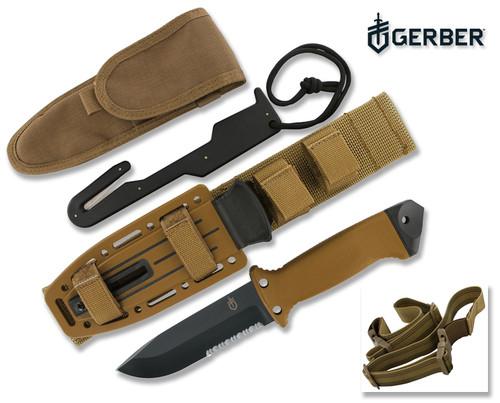 Gerber 22 01400 Lmf Ii Survival Knife Coyote Brown