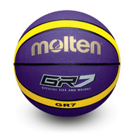 BGR Premium Rubber Basketball - Violet/Yellow