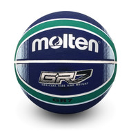 BGRX Premium Rubber Basketball - Blue/Green