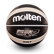 BGRX Premium Rubber Basketball - Black/Silver