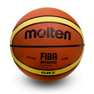 BGR Premium Rubber Basketball - Yellow/Brown