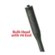"Spratan Style 1/2"" x 75' Bulb Head No Core Cable W/ # 6 End"