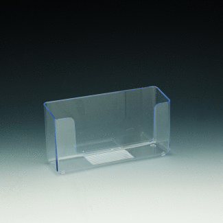 6 Inch Wall Mount Or Counter Top Acrylic Brochure Holder