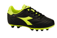 Diadora Brasil R MD PU JR - Blac /Fluo Yellow