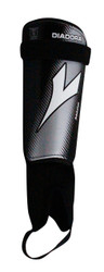 Diadora Mago Hard Shell Shinguard - Black / White / Grey