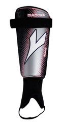 Diadora Mago Hard Shell Shinguard - Black / Grey / Pink