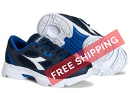 Diadora Kids Shape 7 JR Running Shoe - Navy / White