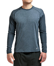 Coolcore Men's 'Interval' Long Sleeve Cooling Tee Shirt - Modern Navy *Free Shipping*