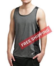 Coolcore Men's 'Racer' Cooling Tank Tee Shirt - Black