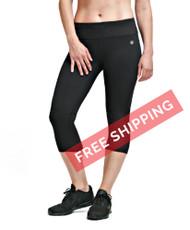 Coolcore Women's Cooling 'Motivate' Running Capri - Black