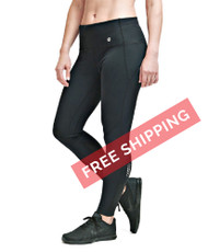 Coolcore Women's 'Connection' Yoga 7/8 Cooling Tight - Black