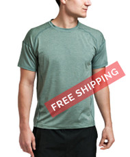 Coolcore Men's 'Crush It' Short Sleeve Cooling Tee - Utility Green