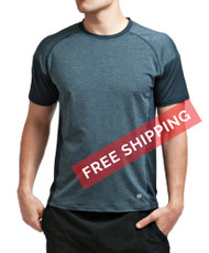 Coolcore Men's 'Crush It' Short Sleeve Cooling Tee - Modern Navy