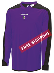 Diadora Enzo Goalkeeper Jersey - Purple -  Virtual Soccer Exclusive