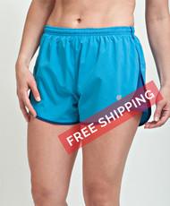 Coolcore Women's 'Strider' Cooling Short - Malibu Blue