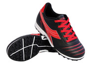 Diadora Cattura TF JR Turf - Black / Red *Free Shipping* A Virtual Soccer Exclusive
