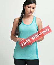Coolcore Women's 'Racer' Cooling Tank Tee Shirt - Seafoam Green