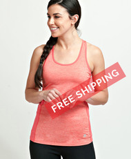 Coolcore Women's 'Racer' Cooling Tank Tee Shirt - Coral Red