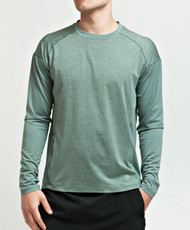 Coolcore Men's 'Interval' Long Sleeve Cooling Tee Shirt - Utility Green *Free Shipping*