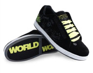 World Industries Boy's Bones Skateboarding Shoe Black/Lime *Free Shipping*