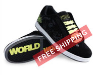 World Industries Boy's Bones Skateboarding Shoe Black/Lime