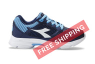 Diadora Kids Shape 9 JR Running Shoe Navy / Light Blue