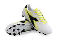 Diadora Mago R W LPU - White / Black / Fluo Yellow - Women's