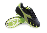 Diadora Pilone L MD PU JR - Black / Lime *Free Shipping*