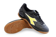 Diadora Men's Maracana 18 ID Indoor Soccer Shoe- Black / Fluo Yellow *Free Shipping*