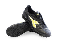Diadora Men's Maracana 18 TF Turf Soccer Shoe - Black / Fluo Yellow *Free Shipping*
