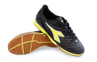 Diadora Women's Maracana 18 W ID Indoor Soccer Shoe - Black / Fluo Yellow *Free Shipping*