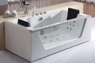 EAGO AM196 6' Clear Rectangular Whirlpool Bath Tub for Two with Fixtures (AM196)