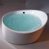 EAGO AM2130 6 Foot Round Free Standing Acrylic Air Bubble Bathtub (AM2130)