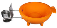 Alfi Brand Orange Round Fiberglass Portable Outdoor Hot Tub | FireHotTub-OR