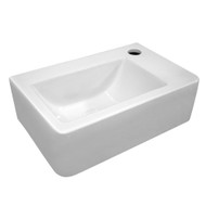 Whitehaus WH-1410 Isabella Bath Basins Wall-Mounted Bathroom Sink with Single hole faucet drilling on right side (WH-1410)