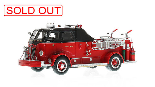 Chicago Fire Department 1954 Autocar Squad 4 museum grade replica
