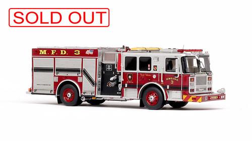 1:50 scale Meriden Fire Department Engine 3 museum grade replica