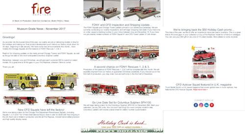 Fire Replicas November Newsletter
