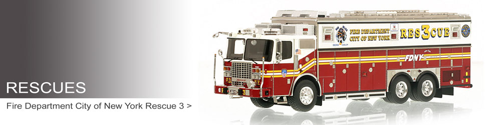 Museum grade Rescues including FDNY Rescue 3.
