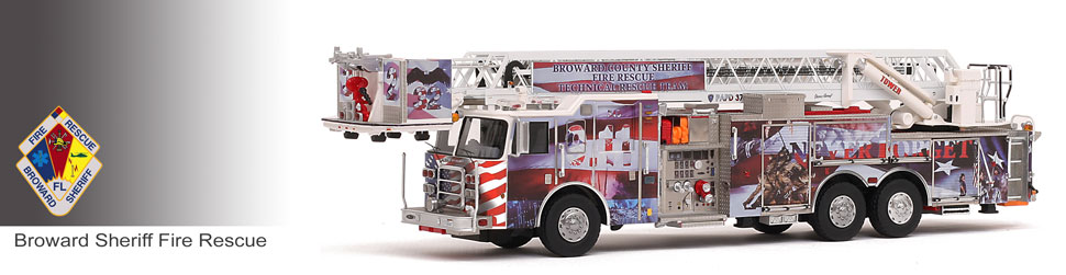 Shop museum grade Broward County scale models including the 9/11 Commemorative P-32!