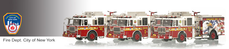 Shop museum grade FDNY scale models including FDNY Squads!