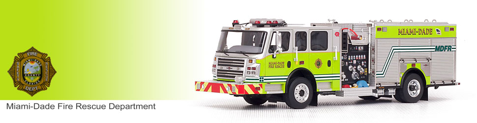 Shop museum grade Miami-Dade scale models including Rosenbauer Engines!