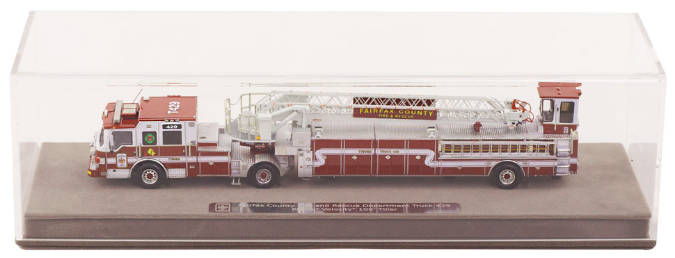 Fairfax County T429 includes a fully custom display case.