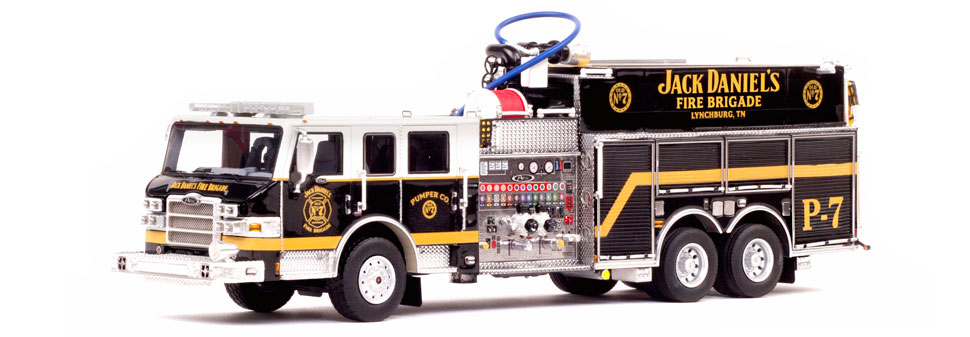 Jack Daniel's Fire Brigade P-7 Pumper Scale Model features over 420 parts.