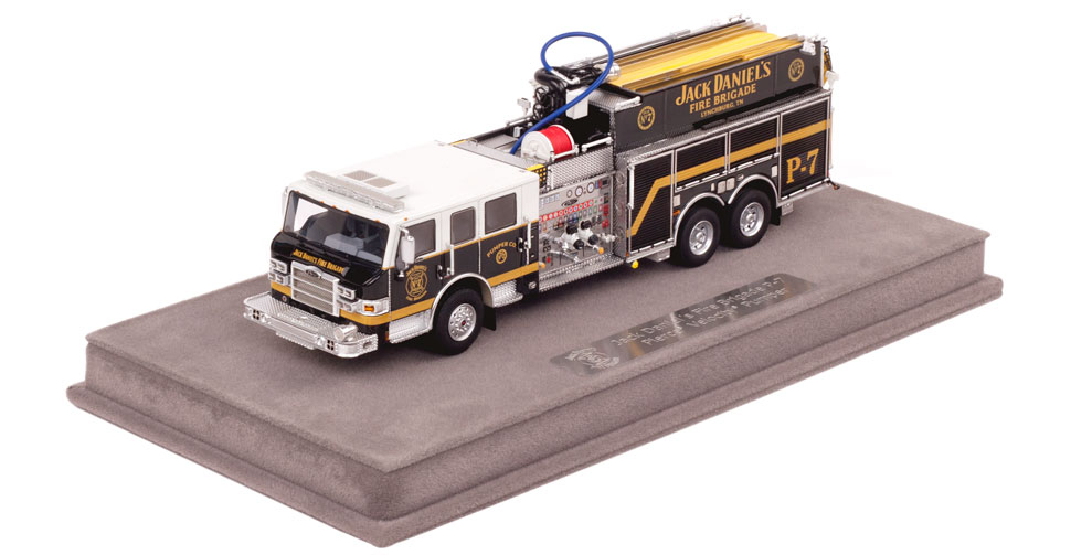 Jack Daniel's Fire Brigade P-7 includes a fully custom display case.
