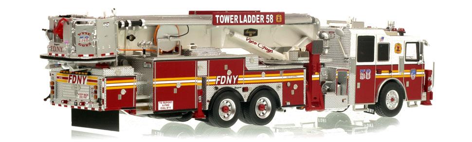 FDNY Tower Ladder 58 museum grade replica