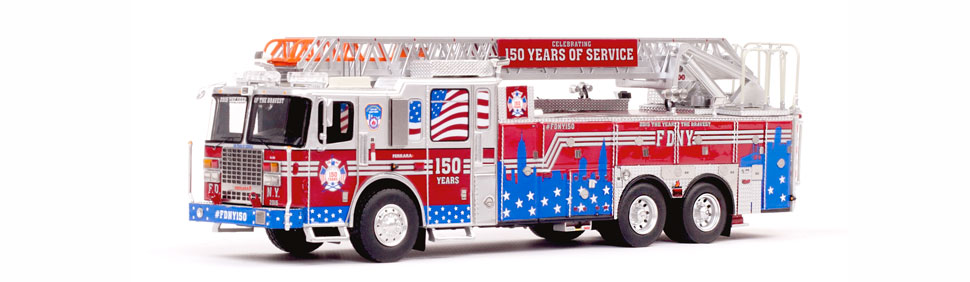 FDNY150 Ladder celebrating FDNY's 150 years of service