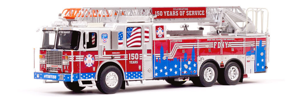 #FDNY150 features nearly 500 hand-crafted parts