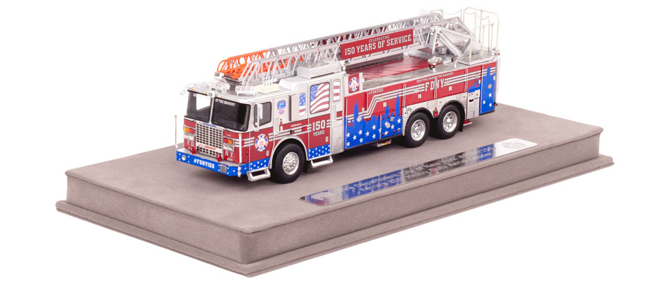 #FDNY Ferrara ladder includes a fully custom display case.