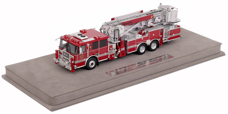 Seagrave 2017 Limited Edition Aerialscope includes a fully custom display case.
